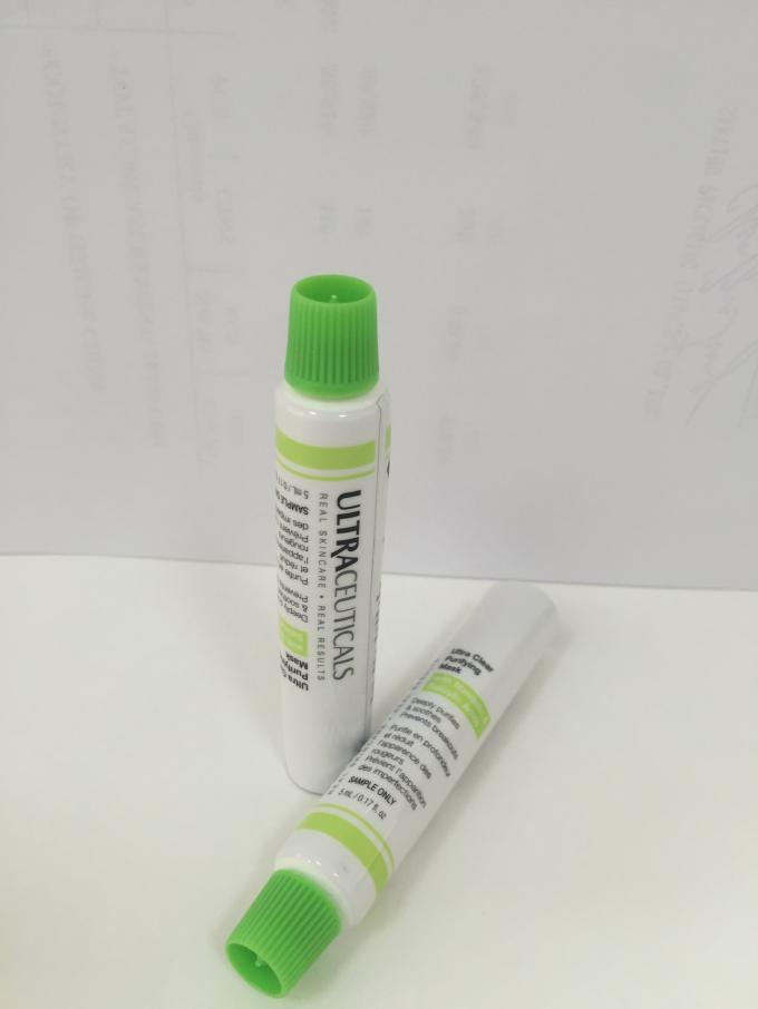 White Toothpaste ABL Laminated Tube With Top Seal / Color Cap ISO Certification