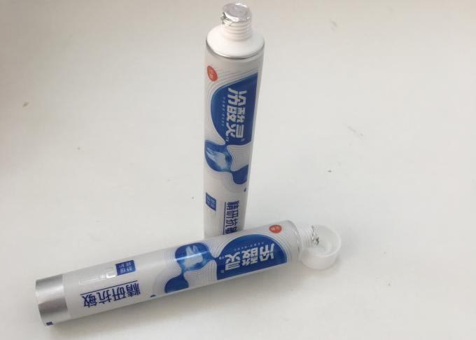Toothpaste Round abl packaging / lami tube With Silver Web , DIA19*105.8mm