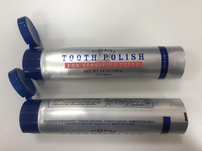 Toothpaste / Cosmetic Silver 108g-D35mm Laminate Tube With Glossy Varnish