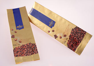 Three Seal Flat Bottom Paper Food Bag Food Flexible Packaging ISO 9001
