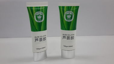 Flat and oval Plastic Barrier Laminated cosmetic tube for Aloe Gelatin and face make up,Diameter 30