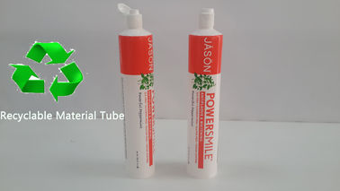 Recyclable Plastic Barrier Toothpaste Tube Packaging 6oz Environmentally Friendly