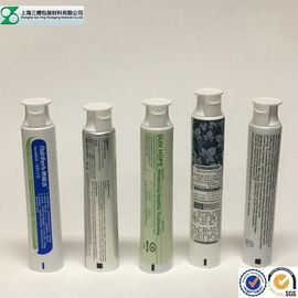 Toothpaste Container Cosmetic Tube , Glossy Squeeze Aluminum Plastic Laminated Tube