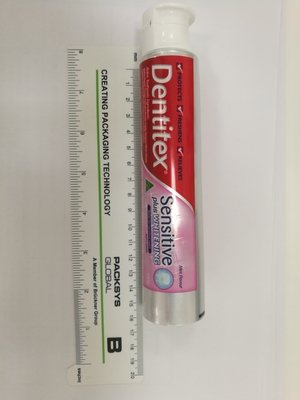 toothpaste round abl packaging made in china D38 with doctor flip top cap