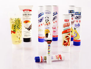 Round ABL PBL APT Laminated Food Packaging Tube For Condensed Milk, Chocolate Sauce
