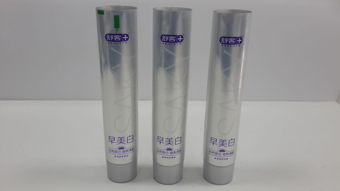 Screw On Cap 250/12 Toothpaste Packaging Tube Aluminium Exposed Tube 90g