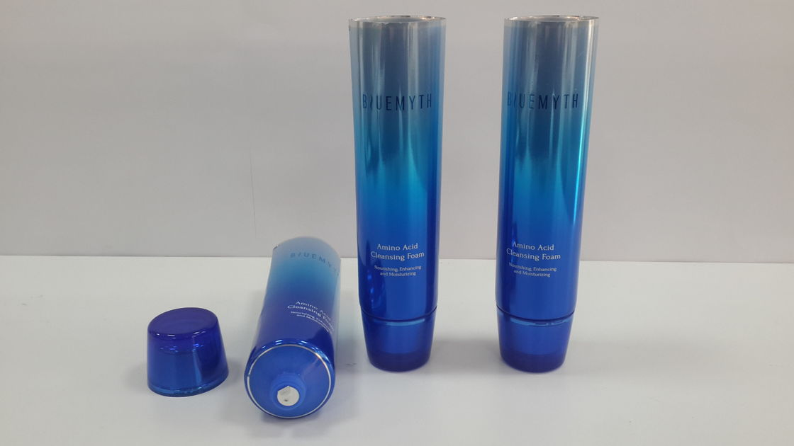 100G Flexible Tube Packaging for cleaning foam , Shiny Metal gradually changing color