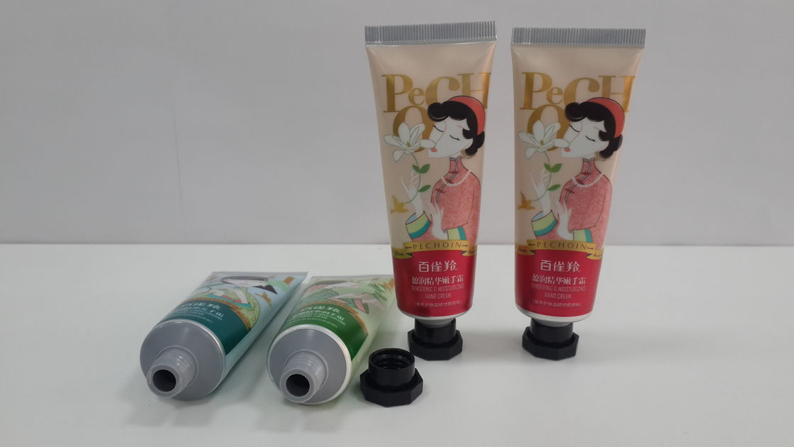 Empty plastic cosmetic tube containers ABL tube with Octagonal cap , metal printing