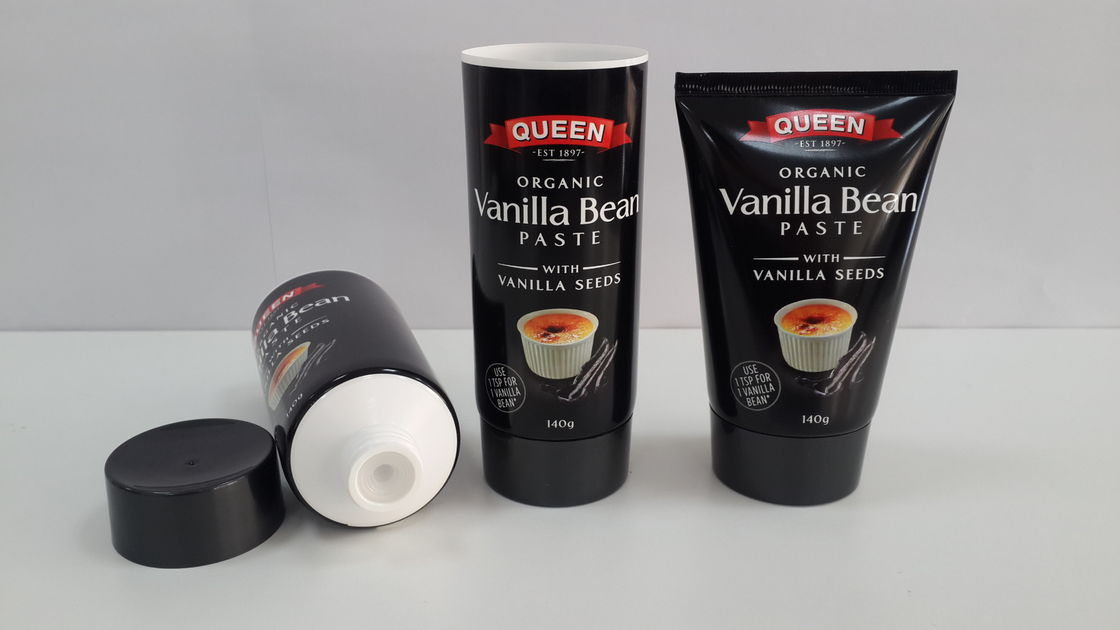 Soft Packaging Tubes Plastic With Inner Plug Squeezing Safe 140g Tube Packaging For Food