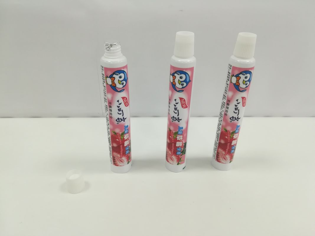 50g Laminated Children Toothpaste Tube Packaging Conical Ribbed Screw On Cap