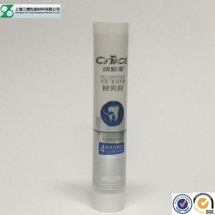 Round / Oval 100g Toothpaste Tube ABL Laminated Packaging Tube