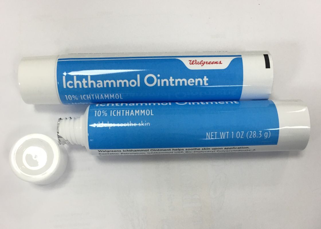 Walgreens Ichthammol Ointment Empty Squeeze Tube Packaging With ABL250/12 Material