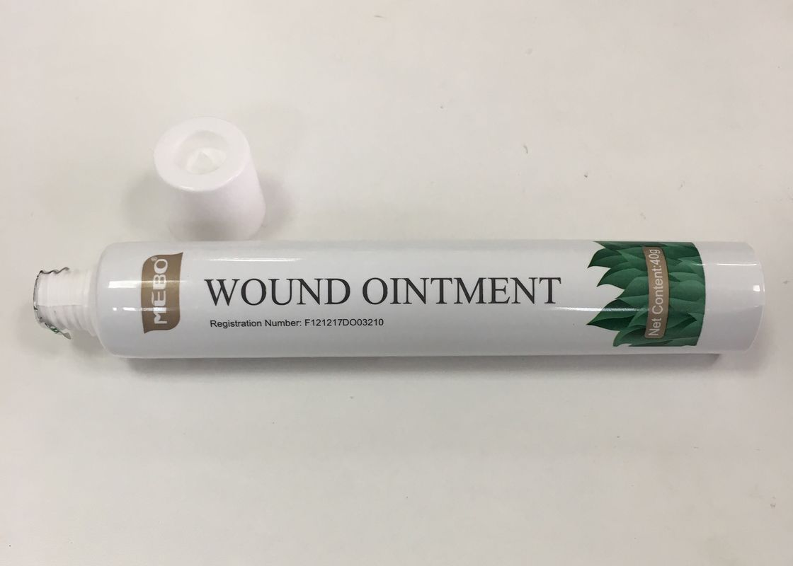 Aluminum Barrier Laminated Pharmaceutical Tube Packaging For MEBO Wound Ointment