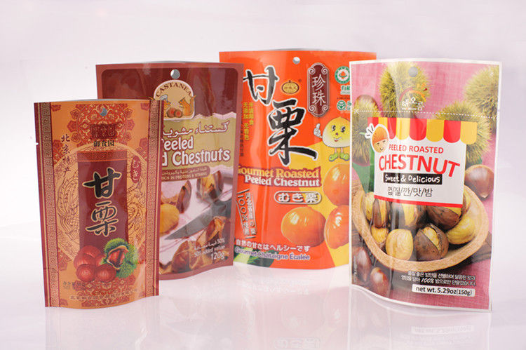 Printing Standing Laminated Food Flexible Packaging Bag For Nuts