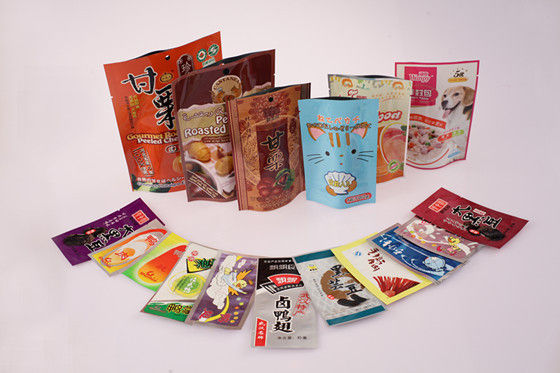 Printed Plastic Snack Bag, PET / PE / AL / CPP Food Flexible Packaging